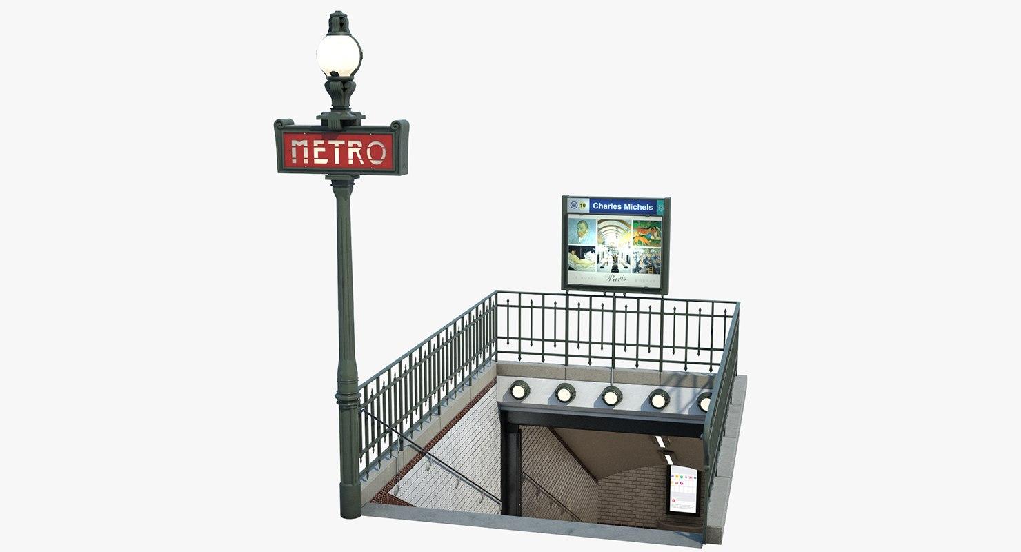 subway entrance paris max