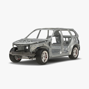 3d model suv frame chassis 3