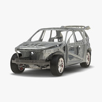SUV Frame with Chassis Rigged 3D Model