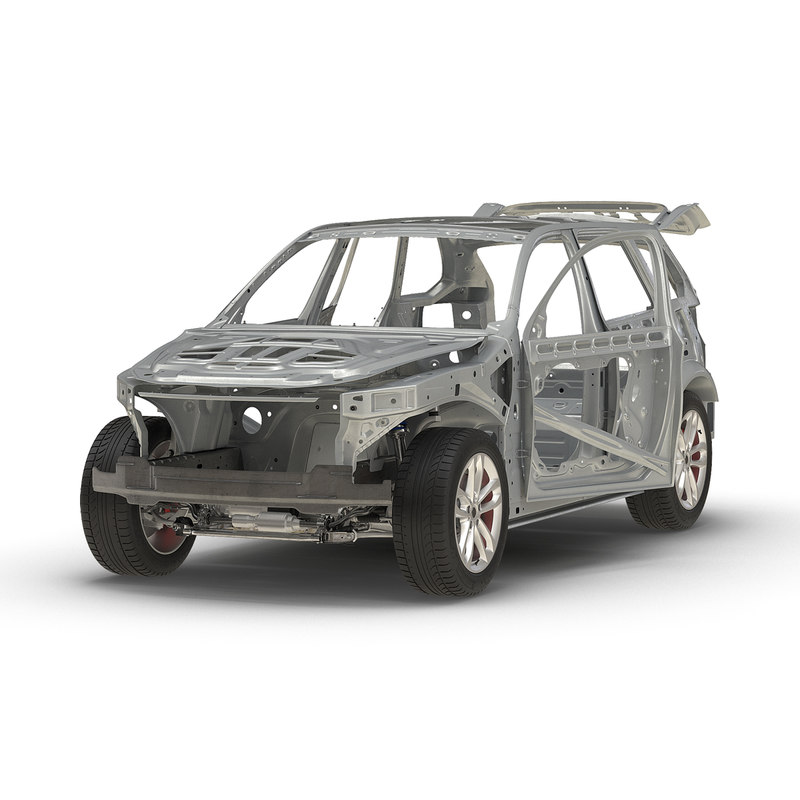 suv frame chassis rigged 3d max