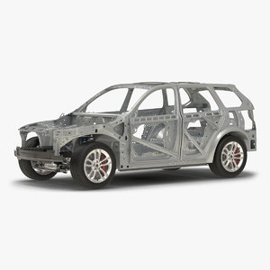 suv frame chassis rigged 3d model