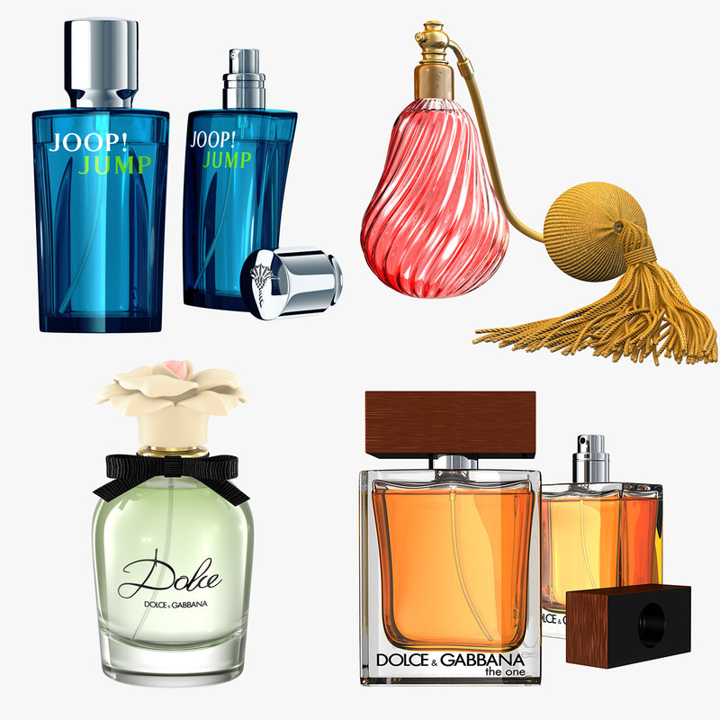 perfumes modeled 3d 3ds