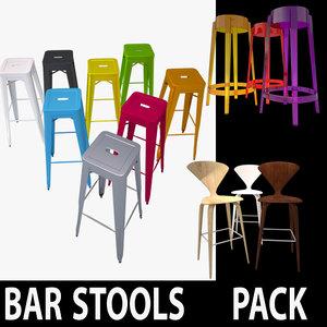 branded bar stools 3d model