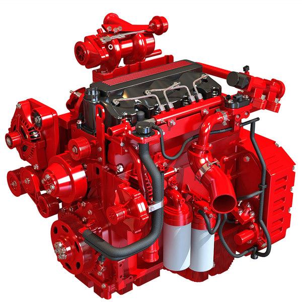 3d model heavy duty diesel engine