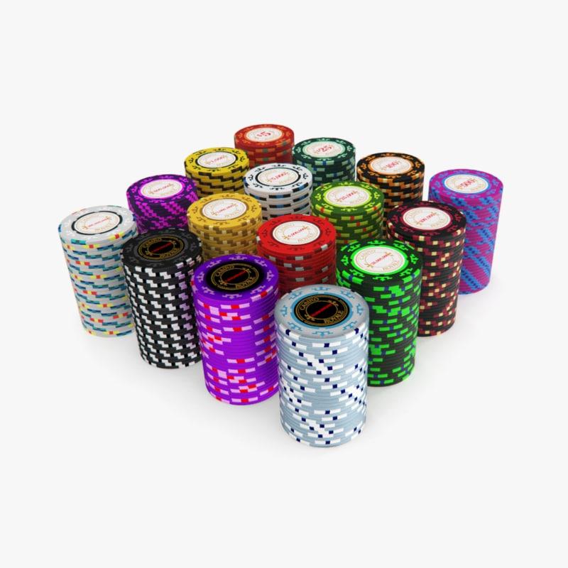 casino royale poker chips 3d model