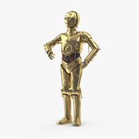 c3po standing 3d max