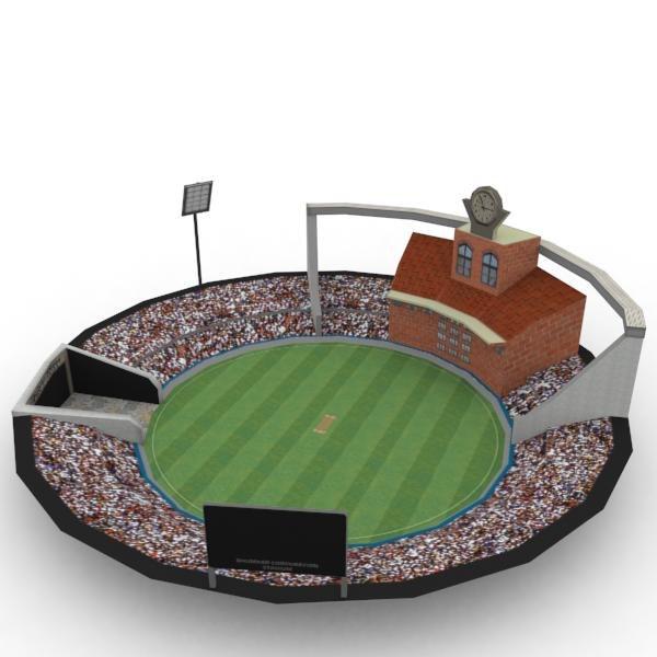 cricket stadium 3d model