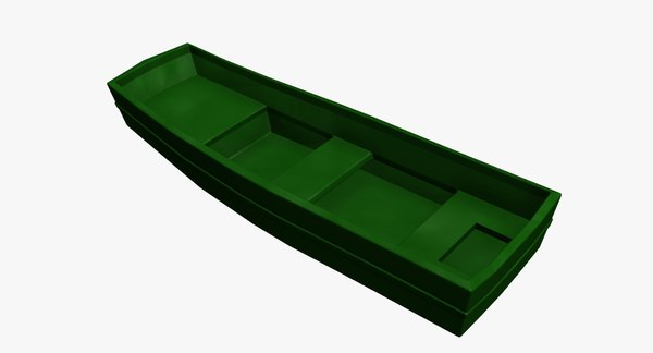 boat fishing 3d model