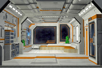 Sci Fi Interior - Scifi Bedroom Living Cell Pod 1