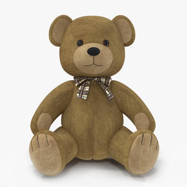3d 3ds teddy bear