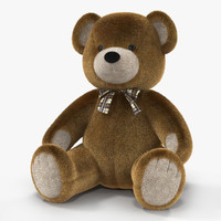 Teddy Bear 3D model with Fur