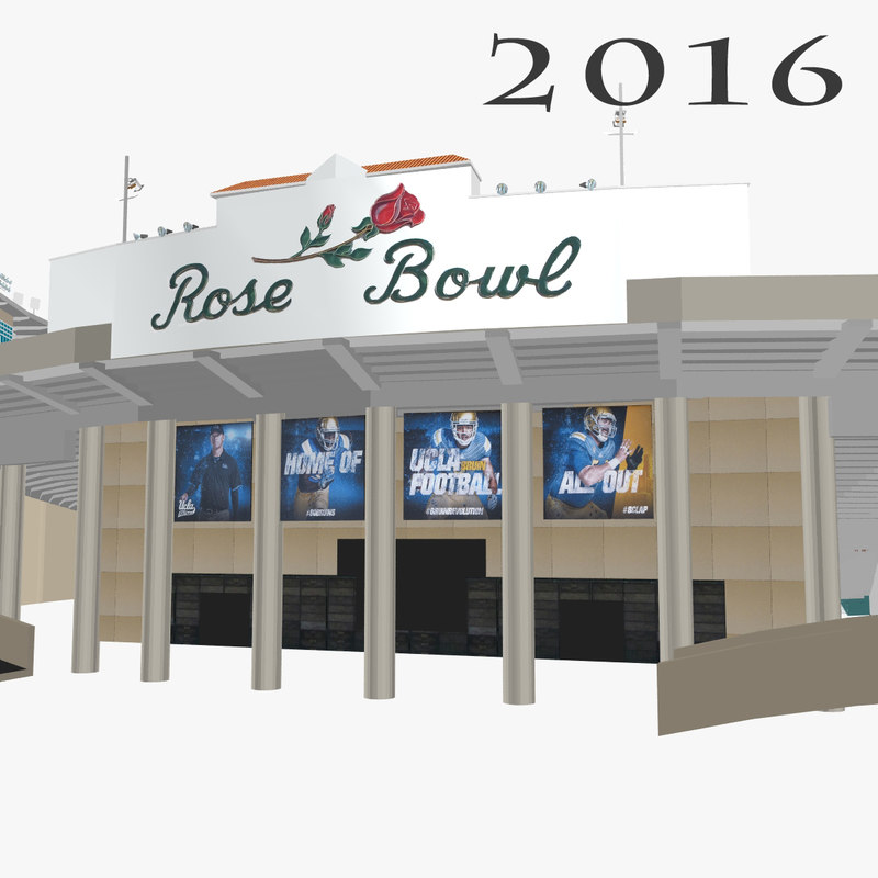 rose bowl 3d model