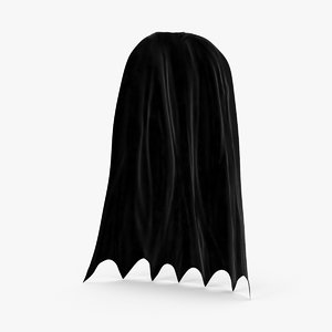 3d model batman cape standing