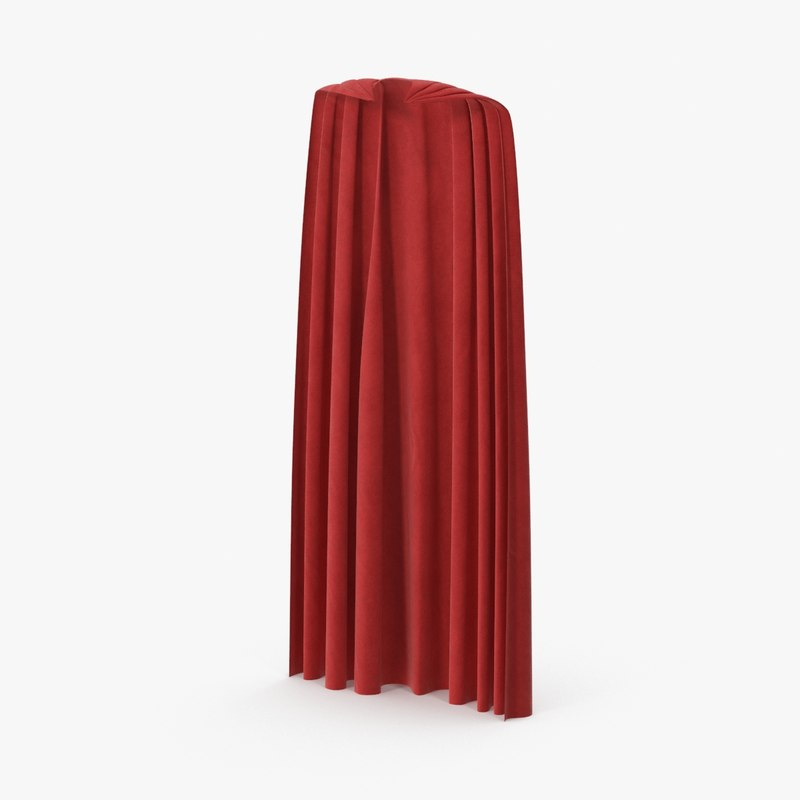 superman cape standing 3d model