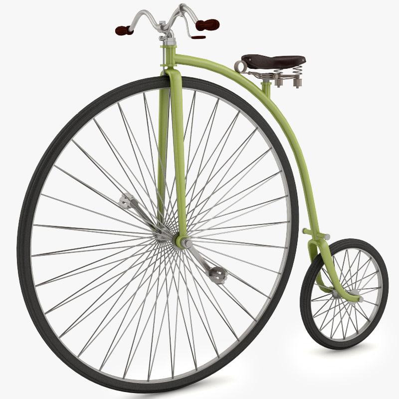 classical velociped 3d model