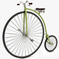 classical velociped 3d model