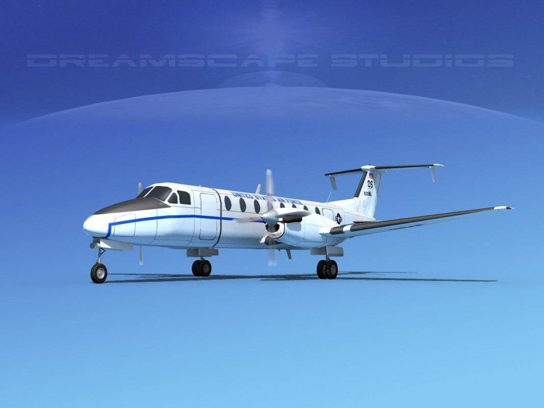 beechcraft c-12j transport 3d dwg
