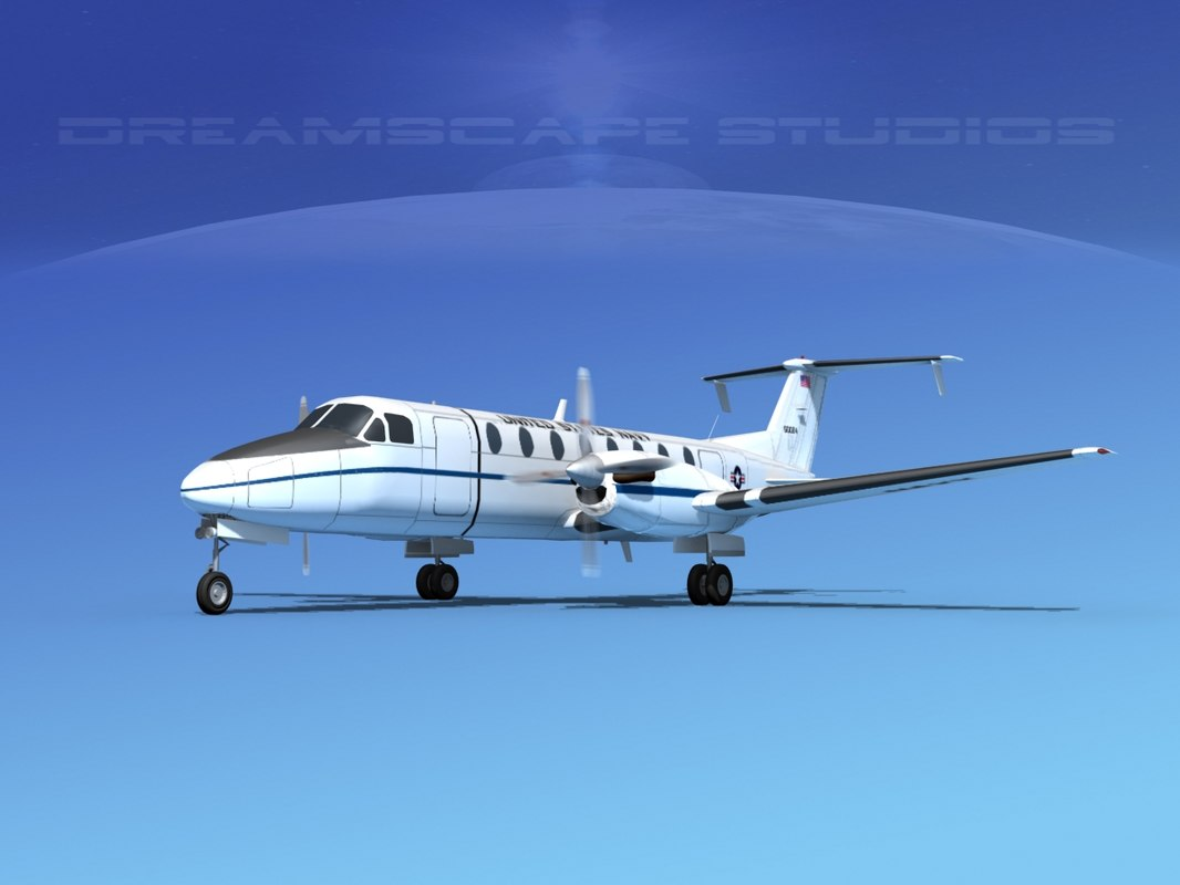 beechcraft c-12j transport 3d model