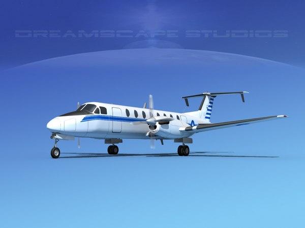 3d model beechcraft c-12j transport