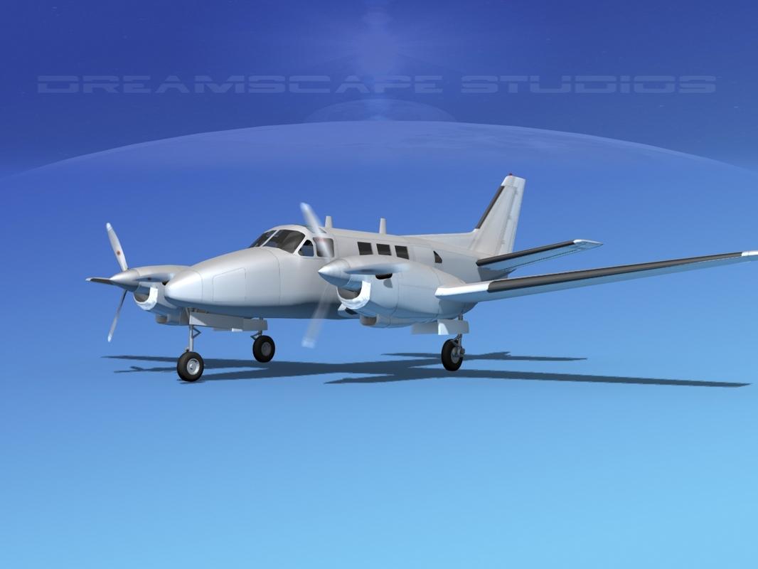 beechcraft king air c-90 3ds