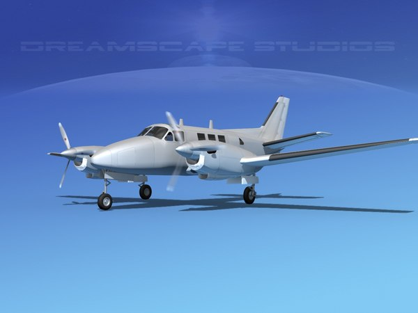 beechcraft king air c-90 3ds