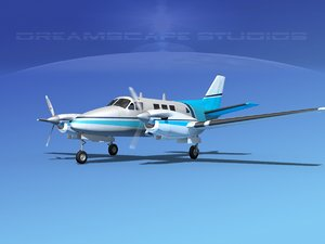 beechcraft king air c-90 3d model