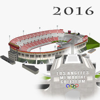 3d model los angeles memorial coliseum