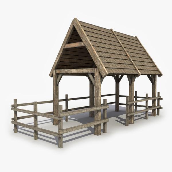 3d pigsty modeled games model
