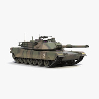 m1 abrams rigged 3d model