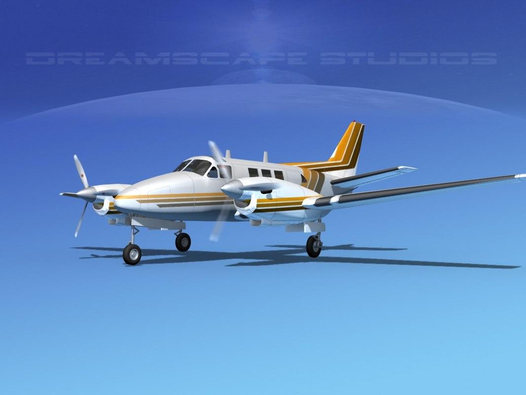 3d model beechcraft king air c-90