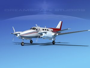 beechcraft king air c-90 3d 3ds