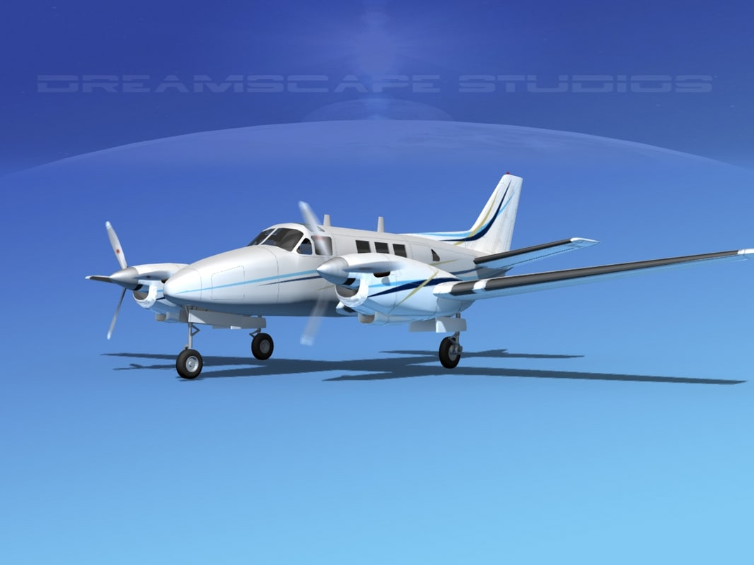 3d 3ds beechcraft king air c-90