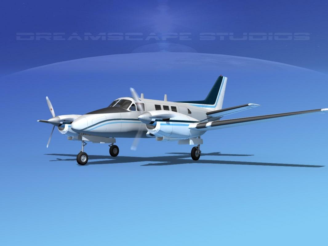 3d model of beechcraft king air c-90