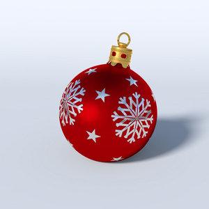 3d christmas bauble model