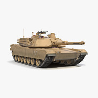 M1 Abrams 2 Rigged 3D Model