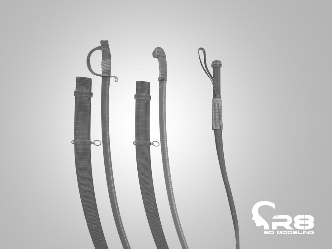 3d model of saber