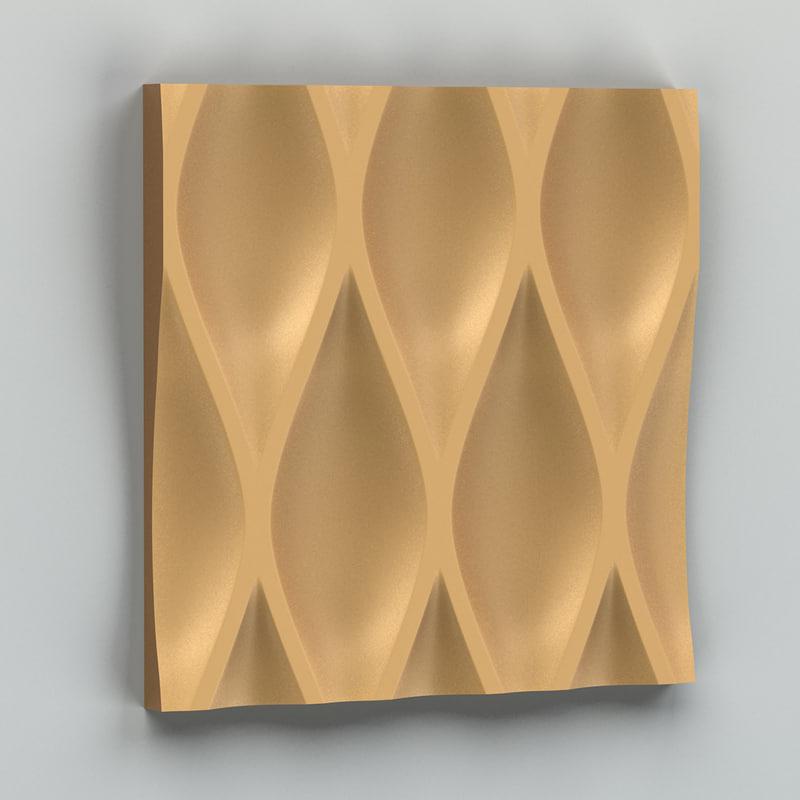 3d max decorative wall panel