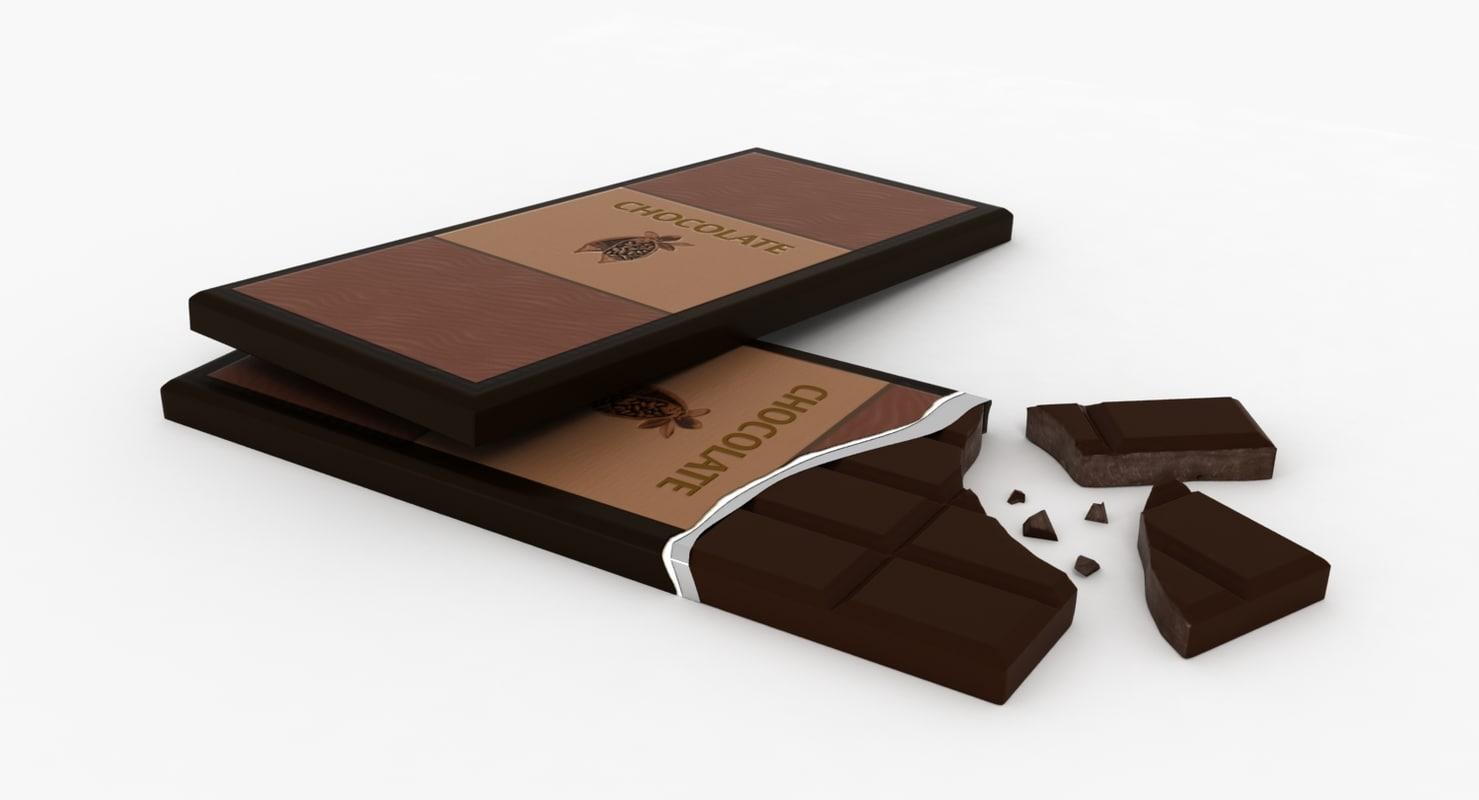 3d chocolate bar