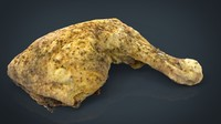 hd chicken thigh 3d 3ds
