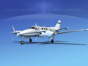 3ds beechcraft king air c-90
