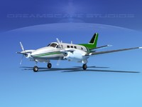 3d beechcraft king air c-90