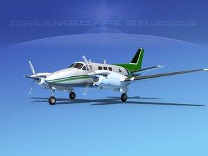 3d beechcraft king air c-90
