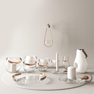 3d model design lantern candle