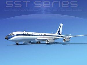 3d model of 707-320 boeing 707