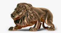 zbrush lion statue 3ds