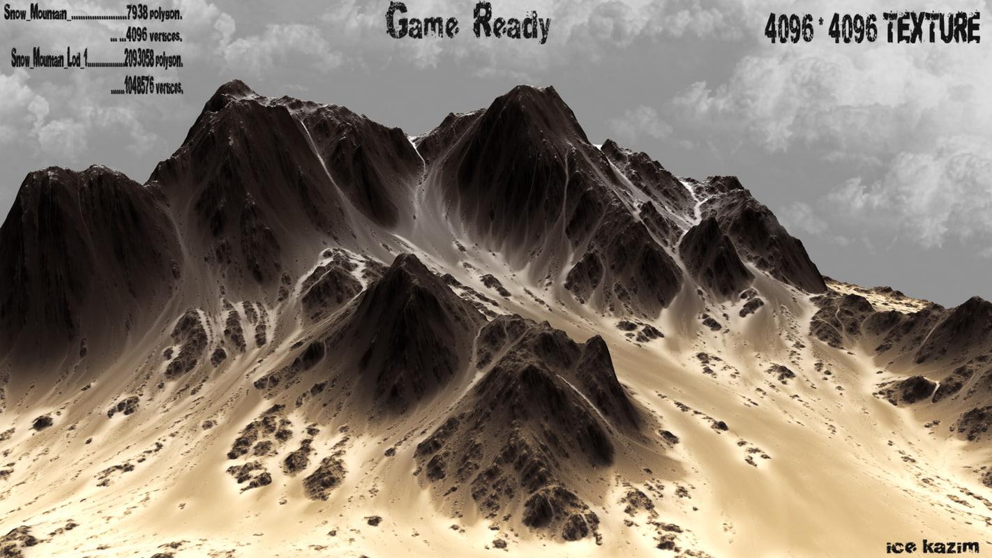 mountain mount obj