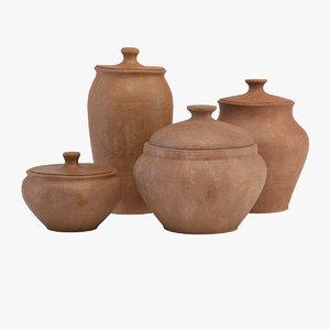 3d model tableware clay