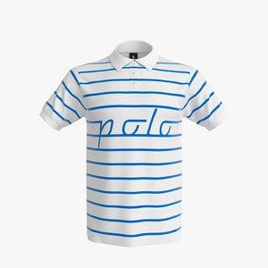 3d polo shirt men model