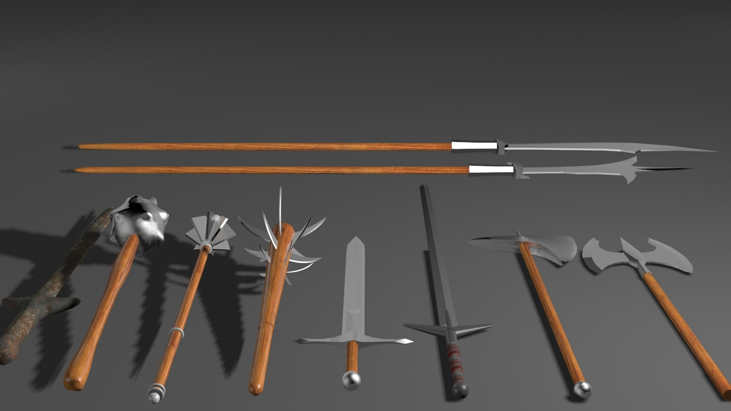 3d x 10 weapons