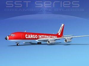 dwg 707-320 boeing 707 cargo